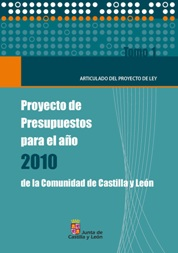 Portada del Tomo I del Proyecto de Presupuestos para el ao 2010 de la Comunidad de Castilla y Len
